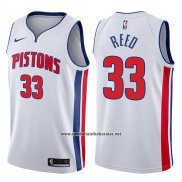 Camiseta Detroit Pistons Willie Reed #33 Association 2017-18 Blanco