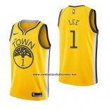 Camiseta Golden State Warriors Damion Lee #1 Earned 2018-19 Amarillo