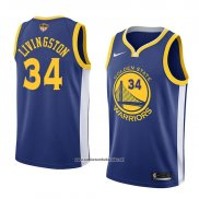 Camiseta Golden State Warriors Shaun Livingston #34 Icon 2017-18 Finals Bound Azul