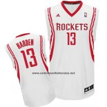 Camiseta Houston Rockets James Harden #13 Blanco