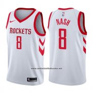 Camiseta Houston Rockets Le'bryan Nash #8 Association 2017-18 Blanco