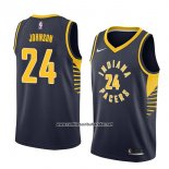 Camiseta Indiana Pacers Alize Johnson-19 #24 Icon 2018 Azul