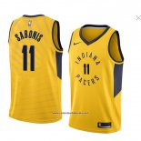 Camiseta Indiana Pacers Domantas Sabonis #11 Statement 2018 Amarillo
