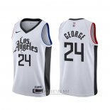 Camiseta Los Angeles Clippers Paul George #24 Ciudad Blanco