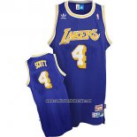Camiseta Los Angeles Lakers Byron Scott #4 Retro Azul