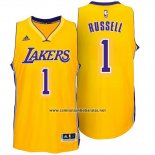 Camiseta Los Angeles Lakers D'Angelo Russell #1 Amarillo