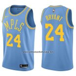 Camiseta Los Angeles Lakers Kobe Bryant #24 Classic 17-18 Azul