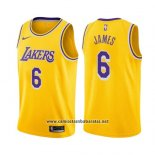 Camiseta Los Angeles Lakers LeBron James #6 Icon 2019 Amarillo