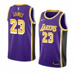 Camiseta Los Angeles Lakers Lebron James Statement #23 2018-19 Violeta