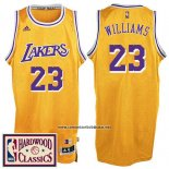 Camiseta Los Angeles Lakers Lou Williams #23 Retro Amarillo