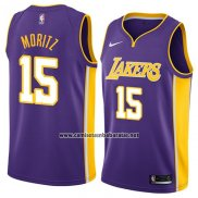 Camiseta Los Angeles Lakers Wagner Moritz #15 Statement 2018 Violeta