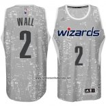 Camiseta Luces De La Ciudad Washington Wizards John Wall #2 Gris
