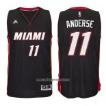 Camiseta Miami Heat Chris Anderse #11 Negro