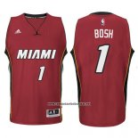 Camiseta Miami Heat Chris Bosh #1 Rojo