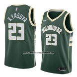 Camiseta Milwaukee Bucks Ersan Ilyasova #23 Icon 2018 Verde