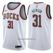 Camiseta Milwaukee Bucks John Henson #31 Return To The Mecca Classic 2017-18 Blanco