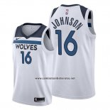 Camiseta Minnesota Timberwolves James Johnson #16 Association 2019-20 Blanco