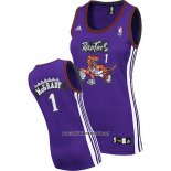 Camiseta Mujer Toronto Raptors Tracy McGrady #1 Violeta