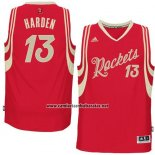 Camiseta Navidad 2015 Houston Rockets James Harden #13 Rojo