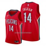 Camiseta New Orleans Pelicans Brandon Ingram #14 Statement Rojo