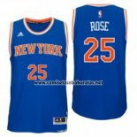 Camiseta New York Knicks Derrick Rose #25 Azul