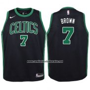 Camiseta Nino Boston Celtics Jaylen Brown #7 Statement 2017-18 Negro