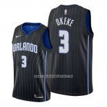Camiseta Orlando Magic Chuma Okeke #3 Statement 2019-20 Negro