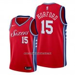 Camiseta Philadelphia 76ers Al Horford #15 Statement Rojo