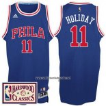 Camiseta Philadelphia 76ers Jrue Holiday #11 Retro Azul