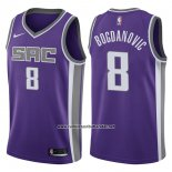 Camiseta Sacramento Kings Bogdan Bogdanovic #8 Icon 2017-18 Violeta