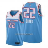 Camiseta Sacramento Kings Cody Demps #22 Ciudad Azul