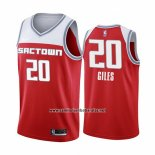 Camiseta Sacramento Kings Harry Giles #20 Ciudad Edition Rojo