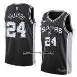 Camiseta San Antonio Spurs Darrun Hilliard #24 Icon 2018 Negro
