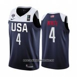 Camiseta USA Derrick Blanco #4 2019 FIBA Basketball World Cup Azul