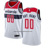 Camiseta Washington Wizards Nike Personalizada 17-18 Blanco Rojo