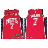 Camiseta Brooklyn Nets Kevin Durant #7 Retro Rojo