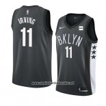 Camiseta Brooklyn Nets Kyrie Irving #11 Statement 2019 20 Negro