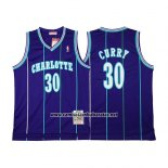 Camiseta Charlotte Hornets Dell Curry #30 Retro Violeta