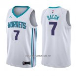 Camiseta Charlotte Hornets Dwayne Bacon #7 Association 2017-18 Blanco