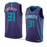 Camiseta Charlotte Hornets Joe Chealey #31 Statement 2018 Violet