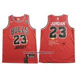 Camiseta Chicago Bulls Michael Jordan #23 Retro 1985 Rojo