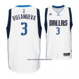 Camiseta Dallas Mavericks Charlie Villanueva #3 Blanco