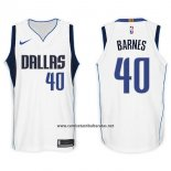 Camiseta Dallas Mavericks Harrison Barnes #40 2017-18 Blanco
