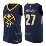 Camiseta Denver Nuggets Jamal Murray #27 Ciudad 2017-18 Azul