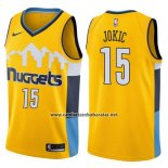 Camiseta Denver Nuggets Nikola Jokic #15 Statement 2017-18 Amarillo