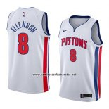 Camiseta Detroit Pistons Henry Ellenson #8 Association 2018 Blanco