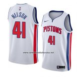 Camiseta Detroit Pistons Jameer Nelson #41 Association 2017-18Blanco