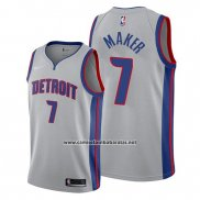 Camiseta Detroit Pistons Thon Maker #7 Statement Gris