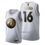 Camiseta Golden Edition Minnesota Timberwolves James Johnson #16 2019-20 Blanco