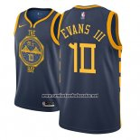 Camiseta Golden State Warriors Jacob Evans III #10 Ciudad 2018-19 Azul